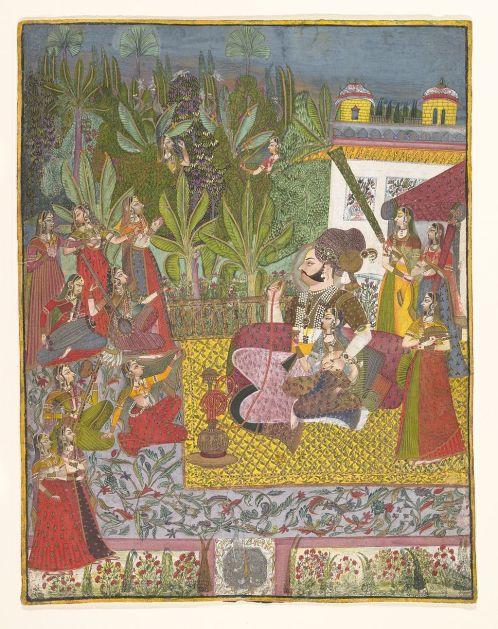 1024px-Maharaja_Bijay_Singh_in_His_Harem,_ca._1770
